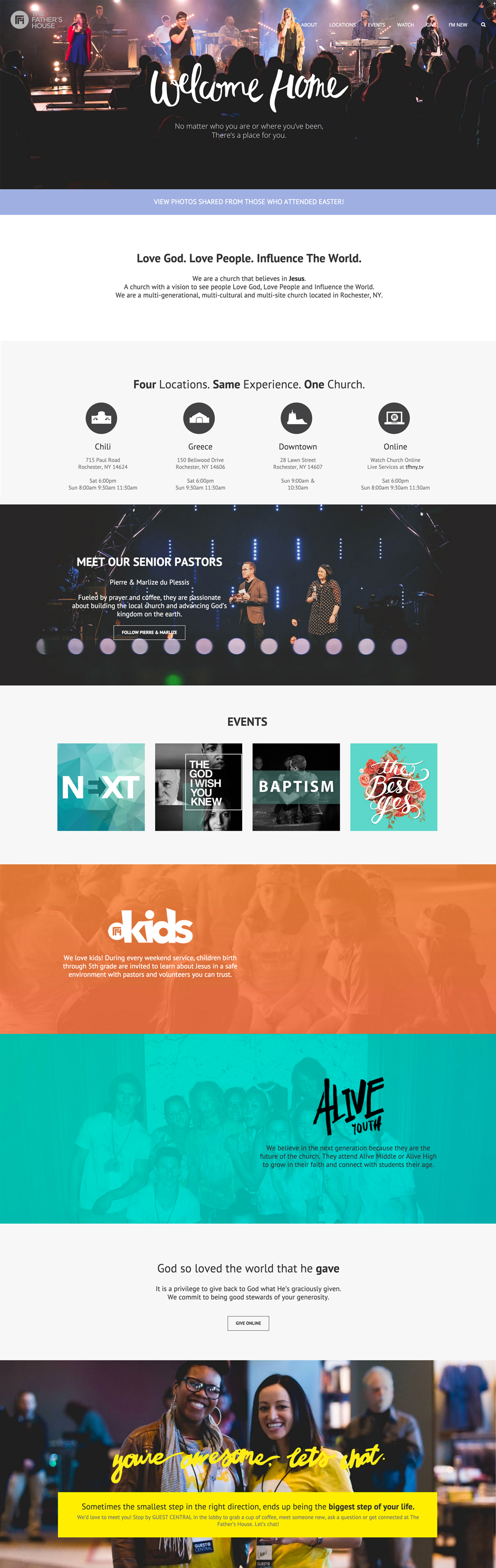 overall look - Church Website Design Ideas
