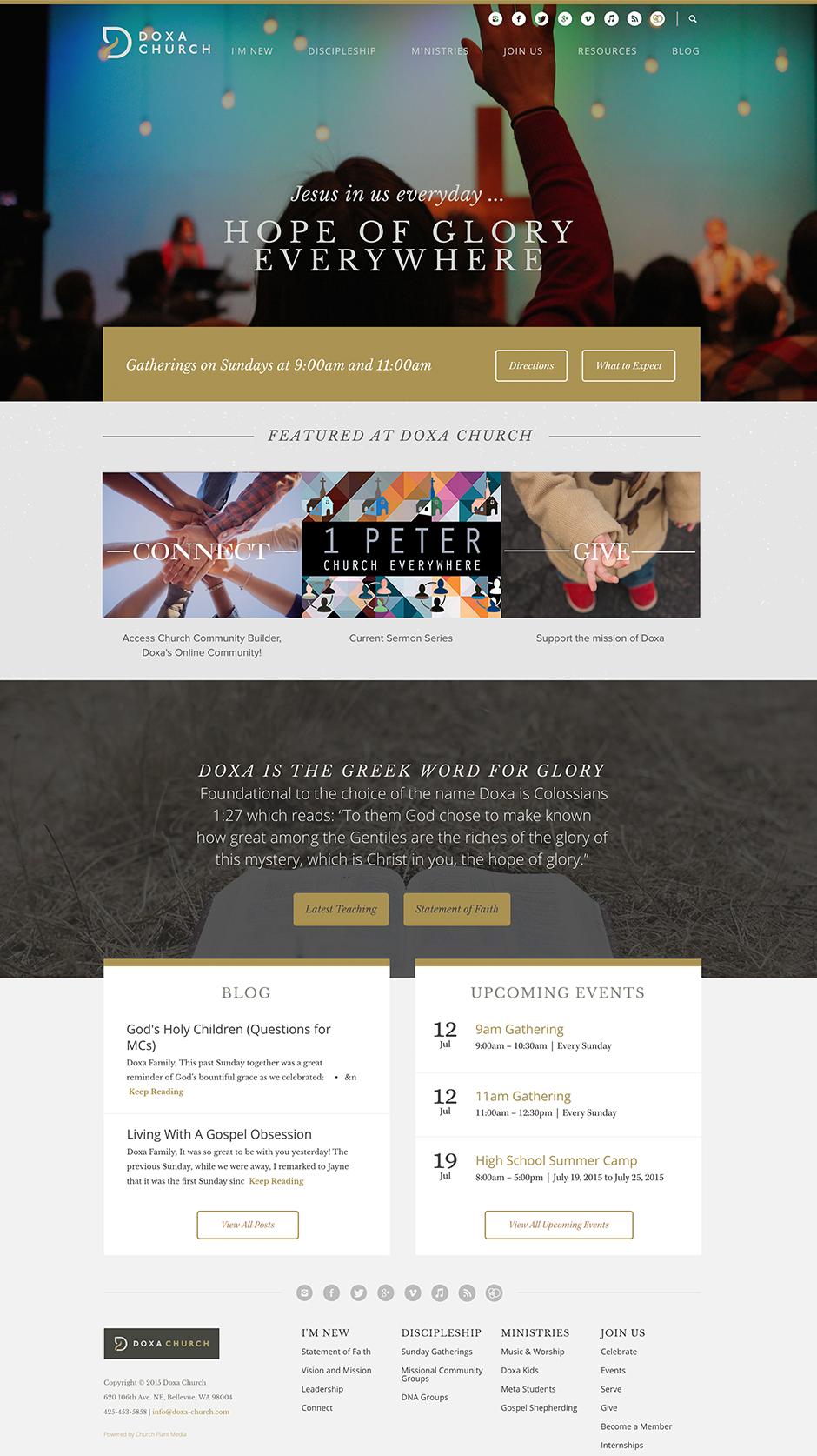 Church Website Design Modern Church W...